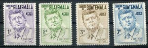 Guatemala SC# C299-303 President John Kennedy MH set SCV $12.90
