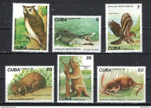 CUBA Sc# 2542-2547  PREHISTORIC ANIMALS dinosaurs  CPL SET of 6  1982  MNH mint