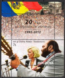 Moldova 2012 Singers 20th Anniv. of the Deaths of Musicians S/S MNH**
