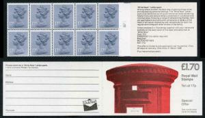 DB8(29)A 1985 1.70 Pillar Box - Write Now Letter Pack Right Margin Cyl B7
