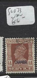 INDIA  CHAMBA  (PP0704B)   KGVI SERVICE 1/2A     SG O73    VFU