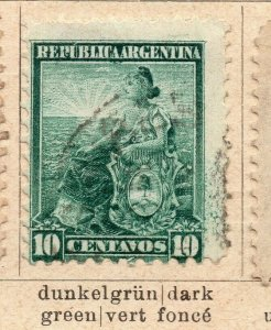 Argentina 1899 Early Issue Fine Used 10c. NW-11760