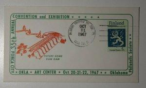 OPS Ponca City Ok Art Center Conv & Exhibition Kaw Dam 1967 Philatelic Cachet