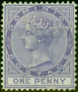 Dominica 1879 1d Lilac SG5 Fine Mounted Mint