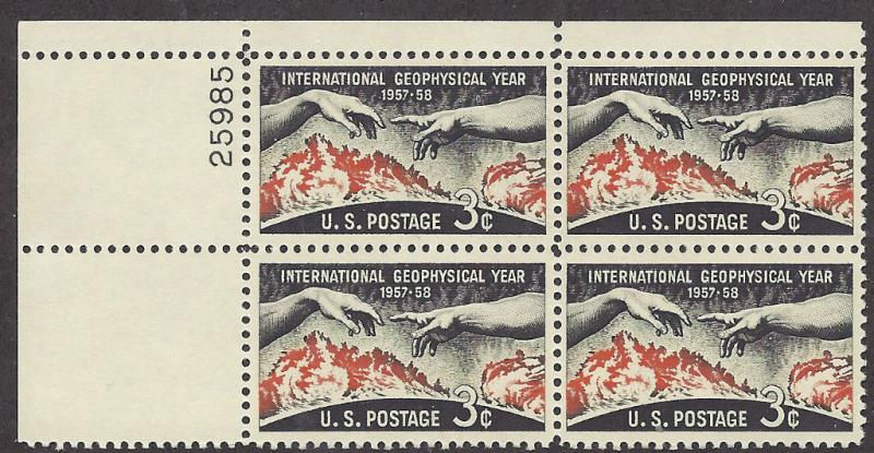 1107 Plate Block 3cent International Geophysical Year 1957 58 Global Physics