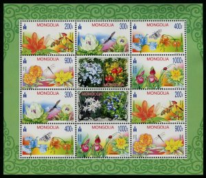 HERRICKSTAMP NEW ISSUES MONGOLIA Sc.# 2787a Flowers 2014 S/S