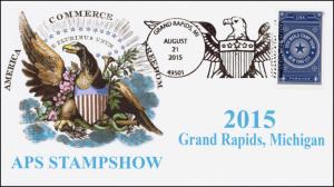 2015, APS Stamp Show, World Stamp Show, Grand Rapids MI, Eagle 15-344