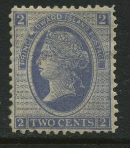 Prince Edward Island QV 1872 2 cents mint o.g. hinged