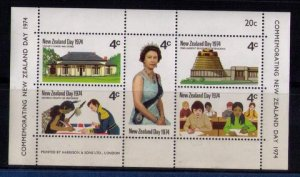 New Zealand Day Commemorative Sheet 1974 Sc #552 New Zealand Day MNH