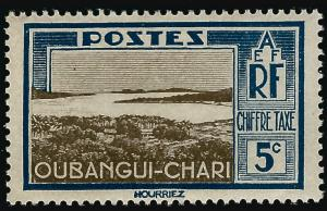 Ubangi-Shari Postage Due (Sc J12) F-VF Mint OG hr..French Colonies are Hot!