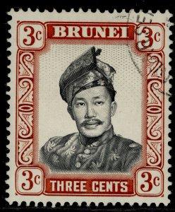 BRUNEI QEII SG120, 3c black & lake-brown, FINE USED.