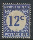 Straits Settlements George V Postage Due  SG D6 Mounted Mint