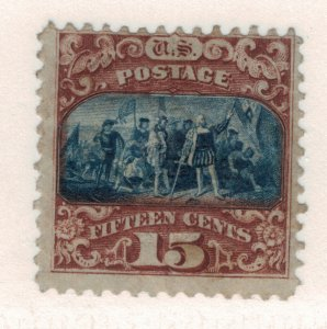 United States Stamp Scott #119, Unused, No Gum - Free U.S. Shipping, Free Wor...
