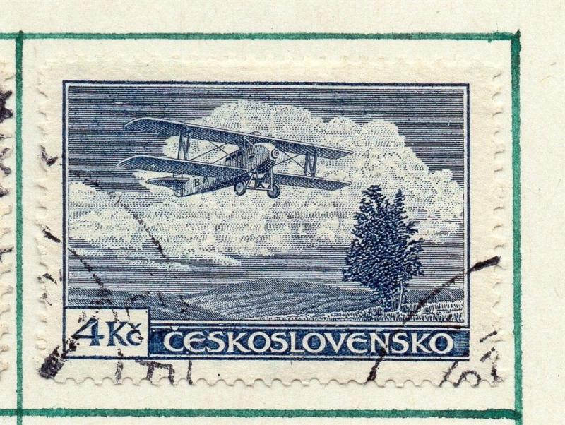 Czechoslovakia 1930 Air Early Issue Fine Used 4K. 230296