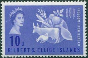 Gilbert & Ellice Islands 1963 SG79 10d Freedom from Hunger MNH