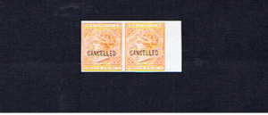 BERMUDA SG5b PLATE PROOF PAIR