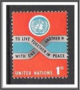 UN New York #146 Peace MNH