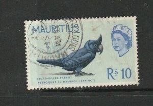Mauritius 1965 Bird Def 10Rs Used SG 331