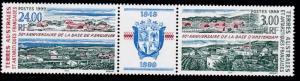 French Antarctic Territory 1999 Amsterdam Base & Kerguelen Base Pair+ Label NH