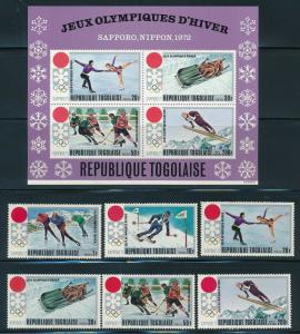 Togo - Sapporo Olympic Games MNH Set (1972)
