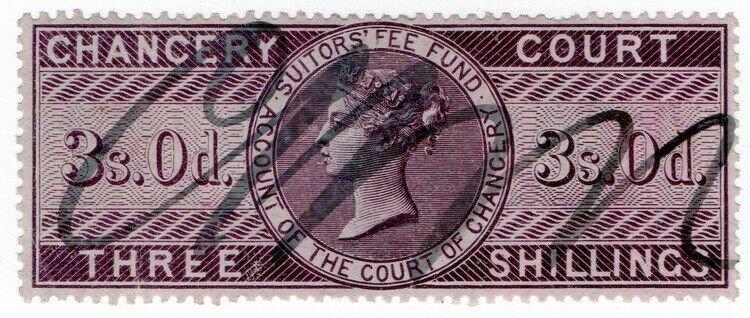 (I.B) QV Revenue : Chancery Court 3/- (1857)