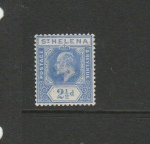 St Helena 1908/11  EDV11 2 1/2d MM SG 64
