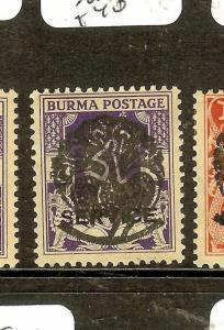 BURMA JAPANESE OCCUPATION (P1502B) ON INDIA  SGJ7  MOG