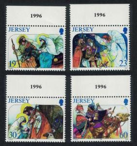 Jersey Christmas 4v Top Margins 1996 MNH SG#764-767
