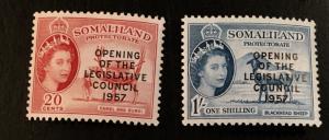 Somaliland Protectorate Scott 140-141 Opening Legislative Council-Mint NH