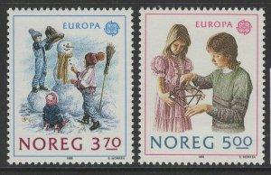 NORWAY SG1059/60 1989 EUROPA CHILDREN'S GAMES MNH