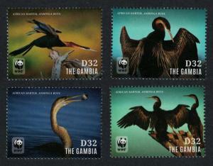 Gambia WWF African Darter Bird 4v