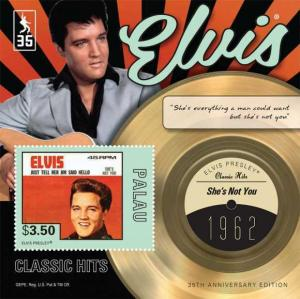 Palau - Elvis Presley She's Not You  Stamp Souvenir Sheet PAL1213