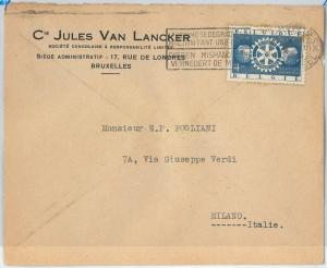 59833 -  BELGIUM - POSTAL HISTORY:  STAMP on  COVER  1955 -  ROTARY