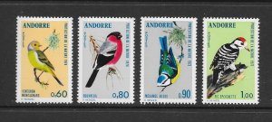 BIRDS - ANDORRA (FR) #228-31   MH