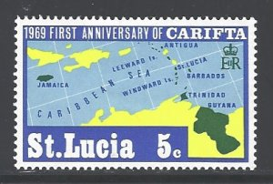St. Lucia Sc # 249 mint hinged (RS)
