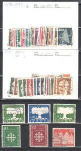 Germany #741, 744-745, 771 ti 772A, 1028 to 1044 and 1170 to 1192 ALL Used