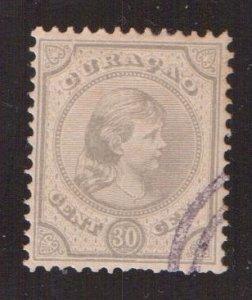 Netherlands Antilles  Curacao  #23 used  1896  Wilhelmina 30c