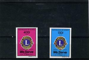 Guinea 1992 Lions International set (2) Imperforated Mint (NH)