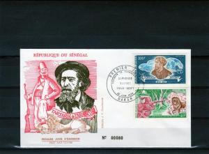Senegal 1972 FDC Tartarin de Tarascon-Lion Set (2) Sc# 362/3
