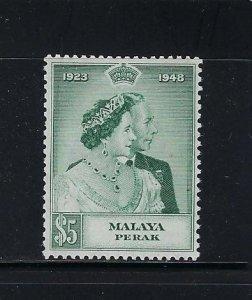 MALAYA PERAK  SCOTT#100 1948 GEORGE VI SILVER WEDDING (TOP VALUE) MINT LH