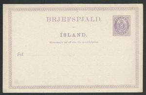 ICELAND early 8ore postcard unused.........................................59242