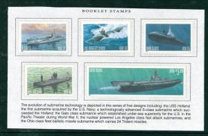 US Scott # 3373-77 Navy Submarines Set of Singles MNH issued 2000