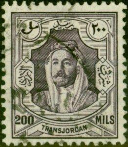 Transjordan 1946 200m Violet SG241 Fine Used