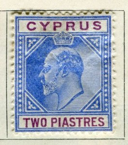 CYPRUS; 1904 early Ed VII issue Mint hinged 2Pi. value