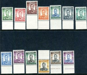SOUTHERN RHODESIA-1937 An unmounted mint set Sg 40-52