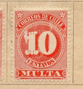 Chile 1898 Early Issue Fine Mint Hinged 10c. NW-09272