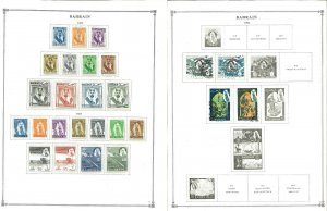 Bahrain 1933-2000's M in Mounts & Used Hinged on Scott internationsl Pages