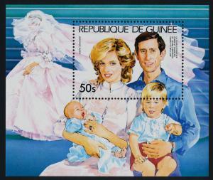 Guinea 938 MNH Prince Charles, Princess Diana, Princes Henry & William