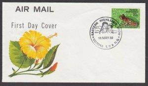 PAPUA NEW GUINEA 1968 cover EASTERN HIGHLANDS SHOW GOROKA cancel............N672