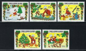 Turks and Caicos Islands Scott 645-649 Mint Never Hinged - Disney Donald Duck